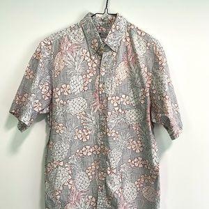 Avanti Hawaiian Aloha Shirt Pineapple Floral Sz XL